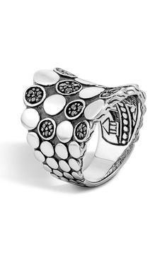 New John Hardy 'Dot' Silver Saddle Ring,Silver Gold fashion online. [$595]newoffershop win<<