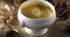 Σούπα κολοκύθας με κάστανα και τραγανή πανσέτα