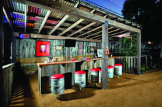 An outdoor bar makes entertaining so easy! Check out these awesome built-ins and creative DIY ideas that are perfect for any backyard party. ideas about Patio bar, Outdoor bars near me and Farmhouse outdoor bar furniture. Bar Patio, Backyard Bar, Rustic Backyard, Backyard Retreat, Romantic Backyard, Sloped Backyard, Pool Bar, Diy Outdoor Bar, Outdoor Living