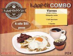 Al fin #viernes! Los esperamos con estos riquísimos #Chilaquiles verdes para que comiencen su día lleno de energía!  También los invitamos a probar nuestros exquisitos platillos que tenemos para ustedes.  Servicio a domicilio al: (983) 162 1240.  #Promociones #KáapehCOMBO #Desayunos #Káapehtear #Káapehtería #TeHaceElDía #ConsumeLocal #Cafetería #Café #Alimentos #Postres #Pasteles #Panes #Cancún #Chetumal #México