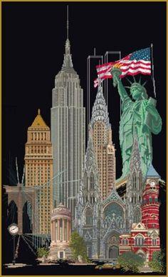 Borduurpakket New York Black Collection - Thea Gouverneur