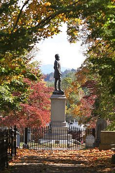 "The Stonewall Jackson monument which markes the final resting place for General Thomas J. ""Stonwall"" Jackson in the Stonewall Jackson Memorial Cemetery in Lexington, VA. Confederate Monuments, Confederate States Of America, Confederate Statues, Lexington Virginia, West Virginia, American Civil War, American History, Stonewall Jackson, Southern Heritage"