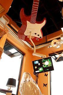 Guitar art in teen dental office by www.Embellishmentskids.com
