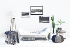 Black And White Mountains Posters. Set of 3 Abstract Landscape printables inspired by nature. Whimsical double exposures create inspiring and tranquil atmosphere. Minimal photo decor for a modern living room or bedroom. Hang a unique gallery wall!