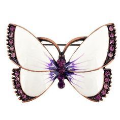 Vintage Style Enamel White Wings Butterfly Pin Brooch Fantasyard. $12.99. Exquisitely detailed designer style. Other color available. Gift box available for an additional fee. Please check out through gift-wrap option. Save 27% Off!