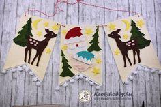 Karácsonyi filc banner - Sizzix Bigz vágósablonokkal Moose Art, Banner, Flag, Scrapbook, Feltro, Banner Stands, Banners, Flags, Scrapbooks