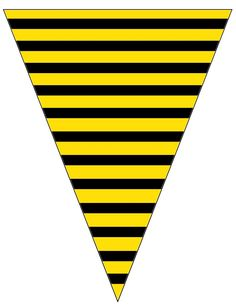 FREE printable Bee Striped Banner .... free to use & free to share for personal use. <3
