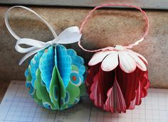Paper+Christmas+Ornaments | Good Golly, Ms. Molly!: Easy Paper Christmas Ornaments