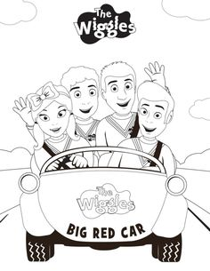 the wiggles playing music coloring pages Wiggles Birthday, Wiggles Party, The Wiggles, Wiggles Cake, Cartoon Coloring Pages, Coloring Pages For Kids, Coloring Sheets, Lego Coloring, Festivus