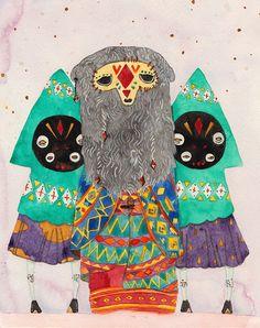 the shaman by Rebecca French Illustration, via Flickr