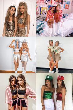 Costume Halloween Duo, Teenage Halloween Costumes, Cute Group Halloween Costumes, Trendy Halloween, Cute Costumes, Halloween Kostüm, Halloween Outfits, Cheap Costume Ideas, Bff Costume Ideas