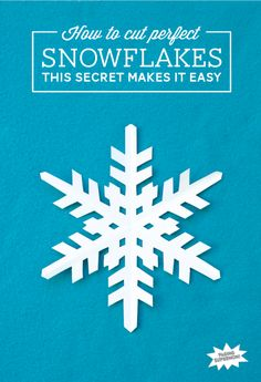How to Cut Perfect Snowflakes - Paging Supermom Noel Christmas, Winter Christmas, All Things Christmas, Frozen Christmas, Christmas Paper, Snowflake Cutouts, Paper Snowflakes, Cut Out Snowflakes, Diy Snowflake Paper