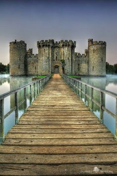 Built in 1385, Bodiam Castle in East Sussex, England
