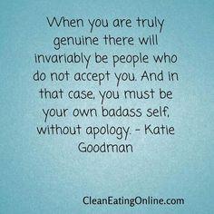 No apologies!