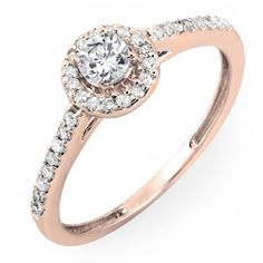 $369.00, 0.50 Carat (ctw) 14k Rose Gold Round Cut Diamond Ladies Engagement Bridal Halo Ring 1/2 CT (Size 5) DazzlingRock Collection,http://www.amazon.com/dp/B00I19YWJW/ref=cm_sw_r_pi_dp_HMh6sb0C5PBSSR1N