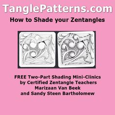 "Everything you need to know about shading your Zentangles and ZIA. Forget about ""art rules"" for shading, this is Zentangle!"