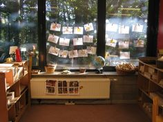 Reggio Inspired - I like how they are using windows for display space!