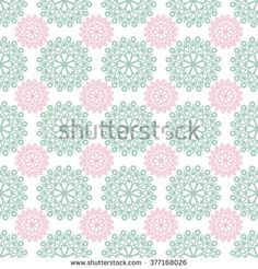 Seamless arabic ornamental pattern texture background with decorative pastel elements on white - stock photo