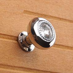 Small Glass Crystal Knobs / Dresser Knob Drawer Knobs Pulls Handles / Rhinestone…