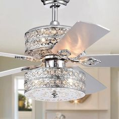 Rosdorf Park 52 Parma Chandelier 5 Blade Ceiling Fan with Remote Rosdorf Park Ceiling Fan Chandelier, Silver Chandelier, Ceiling Lights, Ceiling Fans, Fancy Ceiling Fan, Elegant Ceiling Fan, Chandelier Ideas, Ceiling Ideas, Ceiling Decor