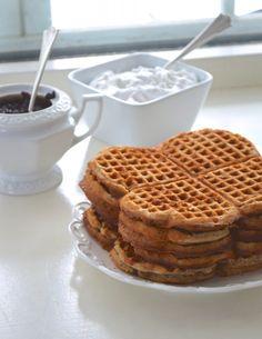 Gluten Free Vegan Buckwheat Waffles