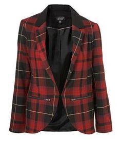 Куртка в клетку шотландка