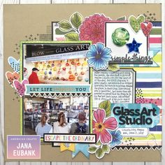 Vicki Boutin Field Notes collection by American Crafts Vacation Memories, Summer Memories, Scrapbook Page Layouts, Scrapbook Pages, Picture Layouts, Multi Photo, Field Notes, American Crafts, Art Studios