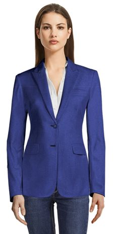 Can dressing for success lead to success? Recent studies, as noted by a recent Wall Street Journal article, suggest dressing up for work in a suit or blazer will improve employees overall productivity. Royal Blue Blazers, Navy Blue Blazer, Blue Plaid, Blue Wool, Cropped Blazer, Casual Blazer, Party Jackets, Custom Made Clothing, Business Casual Dresses