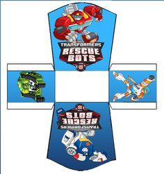 Transformers Rescue Bots: Free Printable Kit.                                                                                                                                                                                 More