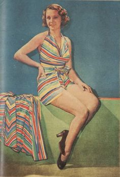 Go down to the sea with color, from The Australian Women's Weekly, January 7, 1939