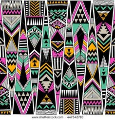 stock-vector-multicolor-tribal-navajo-vector-seamless-pattern-aztec-fancy-abstract-geometric-art-print-ethnic-447542710.jpg (450×470)