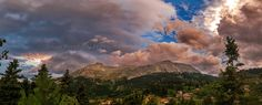 https://flic.kr/p/FG3C1x | Colors of a mountain sunset | Athamanio village on Tzoumerka mts - central Greece   #mountains #greece #sunset #light #sky #clouds #landscape #panorama #nature