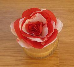 Paper Valentines Day Flower Centerpiece