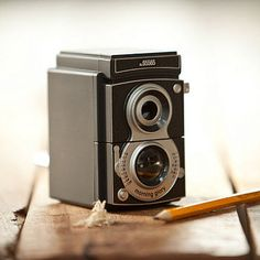 Vintage camera large pencil sharpener
