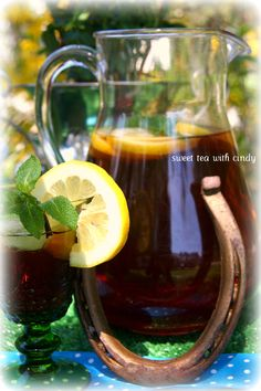 DERBY Kentucky Derby Party:  Mint Julep Sweet Tea Recipe we can drink this when we are feeling.