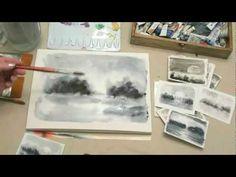 Curso de acuarela Aprender a pintar húmedo sobre húmedo - YouTube
