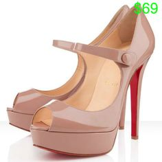 Cheap Christian Louboutin Bana 140mm Patent Leather Pumps Nude Outlet.