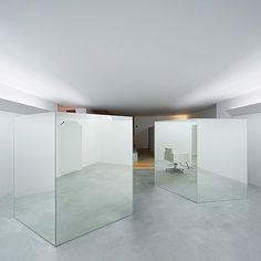 mirrored screens--ne hair salon, Teruhiro Yanagihara