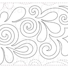 """Tickle Too - Paper - 11"""" - Quilts Complete - Continuous Line Quilting Patterns"""