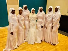 Muslim black beautiful bride and bridesmaids #muslimah #bride #fashion #Black #melanin #bridesmaids #Queens #KnotTheStewards
