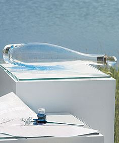 Message In A Bottle Time Capsule Guest Book. Great idea for a guest book.