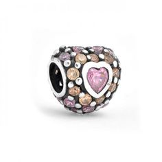 Love this pink heart charm! Bling Jewelry, Charm Jewelry, Beaded Jewelry, Charm Bracelets, Pandora, Love Charms, Tear, Contemporary Jewellery, Silver Beads
