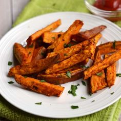 Oven Baked Sweet Potato Fries - A Pinch of Healthy