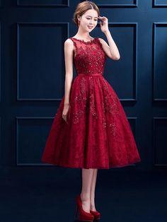 Deluxe Embellished Mesh Back Dress - Women