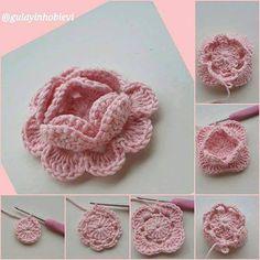 How to crochet a criss cross puff stitch beanie Crochet Squares, Crochet Granny, Crochet Motif, Crochet Baby, Granny Squares, Hat Crochet, Stitch Crochet, Mode Crochet, Crochet Stitches
