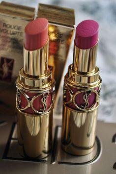 ♥♥ღPatrícia Sallum-Brasil-BH♥♥ღ YSL lipstick love Michelle Phan, Lipstick Shades, Lipstick Colors, Lip Colours, All Things Beauty, Beauty Make Up, Maybelline, Rihanna, Mascara