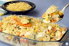 fricassê de bacalhau Bacalhau Recipes, Portuguese Recipes, Fish Dishes, Fish Recipes, Carne, Food Inspiration, Seafood, Cabbage, Quiche