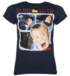 Womens Navy Vintage Home Alone Poster T-Shirt The hit Christmas movie of 1990, Home Alone, starred the super cute child star Macaulay Culkin as Kevin and had us all perched on the edges of our seats! This fab, official tee looks just like the ori http://www.MightGet.com/february-2017-3/womens-navy-vintage-home-alone-poster-t-shirt.asp