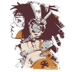Rhubarbes Sketch Manga, Drawing Sketches, Art Drawings, Character Concept, Concept Art, Character Art, Cyberpunk Character, Cyberpunk Art, Female Cyborg