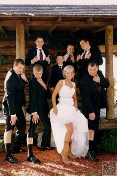 14. Show a Leg - An #Album of Some of the Funniest #Wedding #Photos in the…